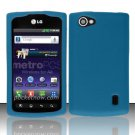 Soft Premium Silicone Case for LG Optimus M+ MS695 (MetroPCS) - Blue