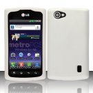 Soft Premium Silicone Case for LG Optimus M+ MS695 (MetroPCS) - White