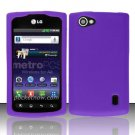 Soft Premium Silicone Case for LG Optimus M+ MS695 (MetroPCS) - Purple