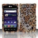 Hard Rhinestone Design Case for LG Optimus M+ MS695 (MetroPCS) - Cheetah