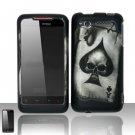 Hard Rubber Feel Design Case for HTC Merge - Spade Skull