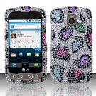 Hard Rhinestone Design Case for LG Optimus T/Phoenix/Thrive (T-Mobile/AT&T) - Colorful Leopard