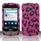 Hard Rhinestone Design Case for LG Optimus T/Phoenix/Thrive (T-Mobile/AT&T) - Pink Leopard