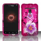 Hard Rubber Feel Design Case for LG Revolution 4G/Esteem (Verizon/MetroPCS) - Hibiscus Flowers