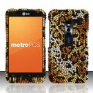 Hard Rhinestone Design Case for LG Revolution 4G/Esteem (Verizon/MetroPCS) - Cheetah