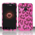 Hard Rhinestone Design Case for LG Revolution 4G/Esteem (Verizon/MetroPCS) - Pink Leopard