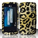 Hard Rubber Feel Design Case for LG Rumor Touch/Banter Touch (Sprint/MetroPCS) - Cheetah
