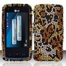 Hard Rhinestone Design Case for LG Rumor Touch/Banter Touch (Sprint/MetroPCS) - Cheetah