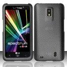 Hard Rubber Feel Design Case for LG Spectrum/Revolution 2 VS920 - Carbon Fiber