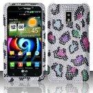 Hard Rhinestone Design Case for LG Spectrum/Revolution 2 VS920 - Colorful Leopard