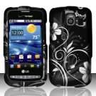 Hard Rubber Feel Design Case for LG Vortex VS660 (Verizon) - Midnight Garden