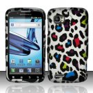 Hard Rubber Feel Design Case for Motorola Atrix 2 MB865 (AT&T) - Colorful Leopard