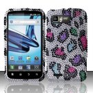Hard Rhinestone Design Case for Motorola Atrix 2 MB865 (AT&T) - Colorful Leopard