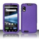 Hard Rubber Feel Plastic Case for Motorola Atrix 4G MB860 (AT&T) - Purple