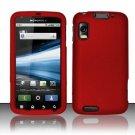 Hard Rubber Feel Plastic Case for Motorola Atrix 4G MB860 (AT&T) - Red