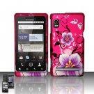 Hard Rubber Feel Design Case for Motorola Droid 2 A955 (Verizon) - Hibiscus Flowers