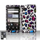Hard Rubber Feel Design Case for Motorola Droid 2 A955 (Verizon) - Colorful Leopard