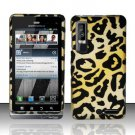 Hard Rubber Feel Design Case for Motorola Droid 3 (Verizon) - Cheetah