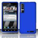 Hard Rubber Feel Plastic Case for Motorola Droid 3 (Verizon) - Blue