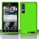 Hard Rubber Feel Plastic Case for Motorola Droid 3 (Verizon) - Green