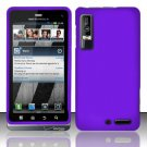 Hard Rubber Feel Plastic Case for Motorola Droid 3 (Verizon) - Purple