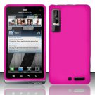 Hard Rubber Feel Plastic Case for Motorola Droid 3 (Verizon) - Pink