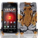 Hard Rhinestone Design Case for Motorola Droid 4 XT894 (Verizon) - Tiger
