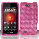 Hard Rhinestone Design Case for Motorola Droid 4 XT894 (Verizon) - Pink