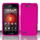 Hard Rubber Feel Plastic Case For Motorola Droid 4 XT894 (Verizon) - Pink