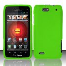 Hard Rubber Feel Plastic Case For Motorola Droid 4 XT894 (Verizon) - Green