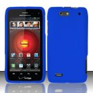Hard Rubber Feel Plastic Case For Motorola Droid 4 XT894 (Verizon) - Blue