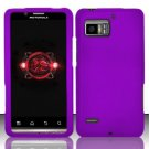 Hard Rubber Feel Plastic Case for Motorola Droid Bionic 4G XT875 (Verizon) - Purple
