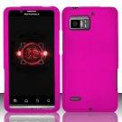 Hard Rubber Feel Plastic Case for Motorola Droid Bionic 4G XT875 (Verizon) - Pink
