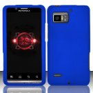 Hard Rubber Feel Plastic Case for Motorola Droid Bionic 4G XT875 (Verizon) - Blue