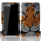 Hard Rhinestone Design Case for Motorola Droid RAZR MAXX - Tiger