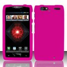 Hard Rubber Feel Plastic Case For Motorola Droid RAZR MAXX XT913/XT916 (Verizon) - Pink