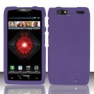 Hard Rubber Feel Plastic Case For Motorola Droid RAZR MAXX XT913/XT916 (Verizon) - Purple