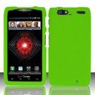 Hard Rubber Feel Plastic Case For Motorola Droid RAZR MAXX XT913/XT916 (Verizon) - Green