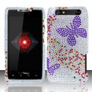 Hard Rhinestone Design Case for Motorola Droid RAZR XT912 (Verizon) - Purple Butterfly
