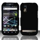 Hard Rubber Feel Plastic Case for Motorola Photon 4G MB855 (Sprint) - Black