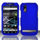 Hard Rubber Feel Plastic Case for Motorola Photon 4G MB855 (Sprint) - Blue