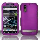 Hard Rubber Feel Plastic Case for Motorola Photon 4G MB855 (Sprint) - Purple