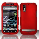 Hard Rubber Feel Plastic Case for Motorola Photon 4G MB855 (Sprint) - Red