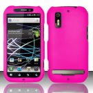Hard Rubber Feel Plastic Case for Motorola Photon 4G MB855 (Sprint) - Pink