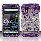 Hard Rhinestone Design Case for Motorola Photon 4G MB855 (Sprint) - Purple Gems