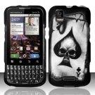 Hard Rubber Feel Design Case for Motorola XPRT MB612 (Sprint) - Spade Skull
