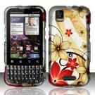 Hard Rubber Feel Design Case for Motorola XPRT MB612 (Sprint) - Red Flowers