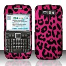 Hard Rubber Feel Design Case for Nokia E71 - Pink Leopard