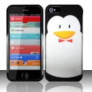 Hard Rubber Feel Design Case for Apple iPhone 5 - Penguin