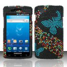 Hard Rhinestone Design Case for Samsung Captivate i897 (AT&T) i897 (AT&T) i897 (AT&T) - Blue Butterfly